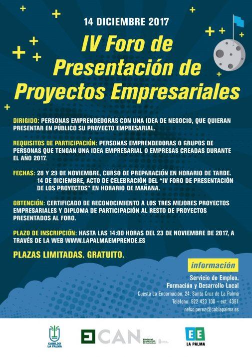IV Foro de Presentación de Proyectos Empresariales