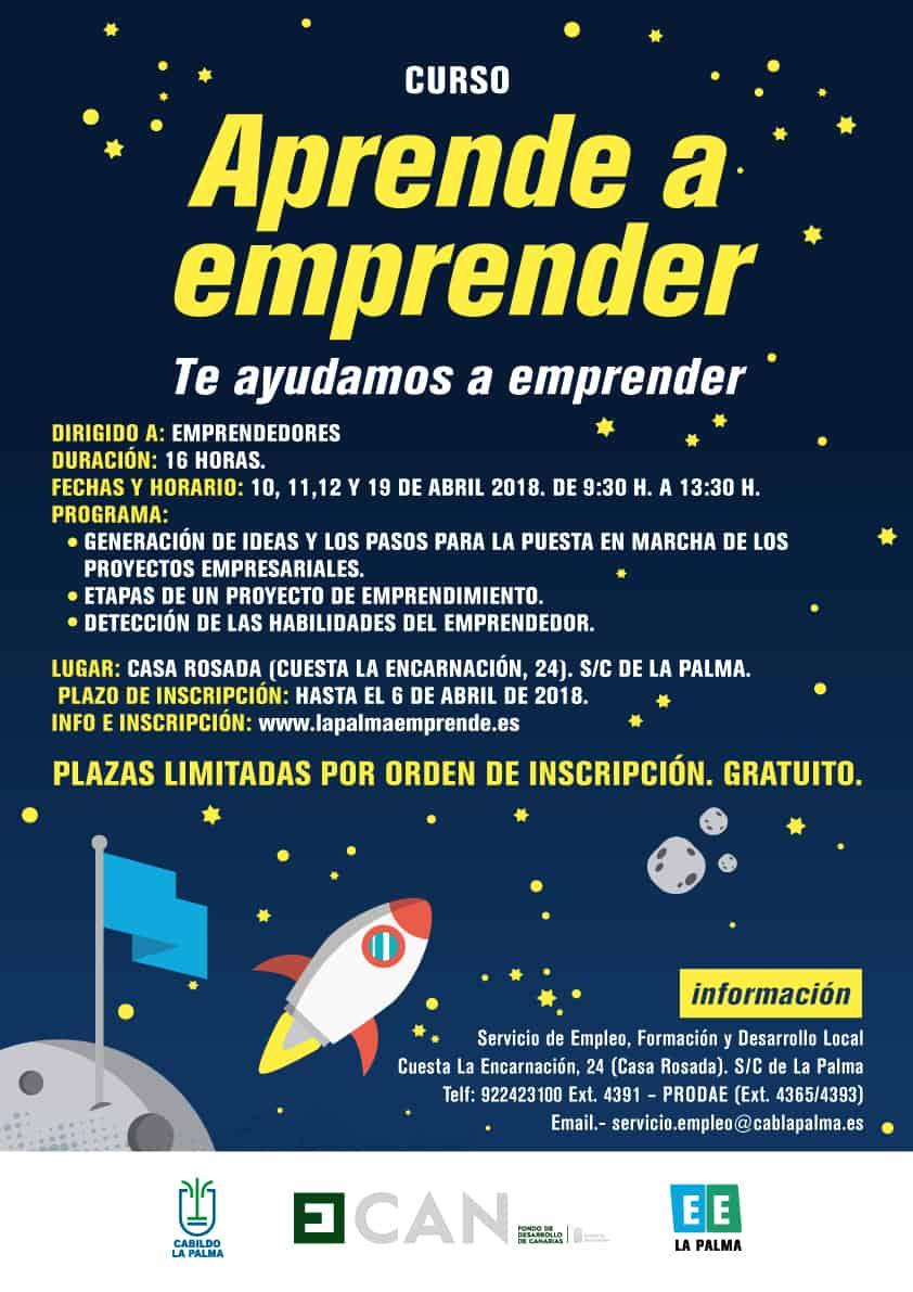 Curso Aprende a Emprender, La Palma Emprende 2018